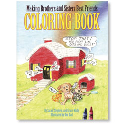 Making Brothers and Sisters Best Friends - Coloring Book