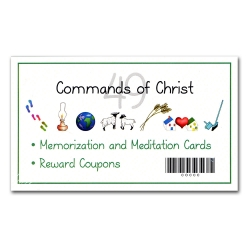 Commands of Christ Memorization and Meditation Cards for Children