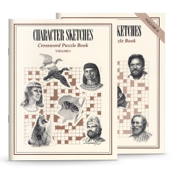 Character Sketches Crossword Puzzle Set