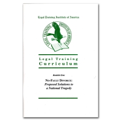 Journal of Legal Studies 1 - No Fault Divorce Proposed