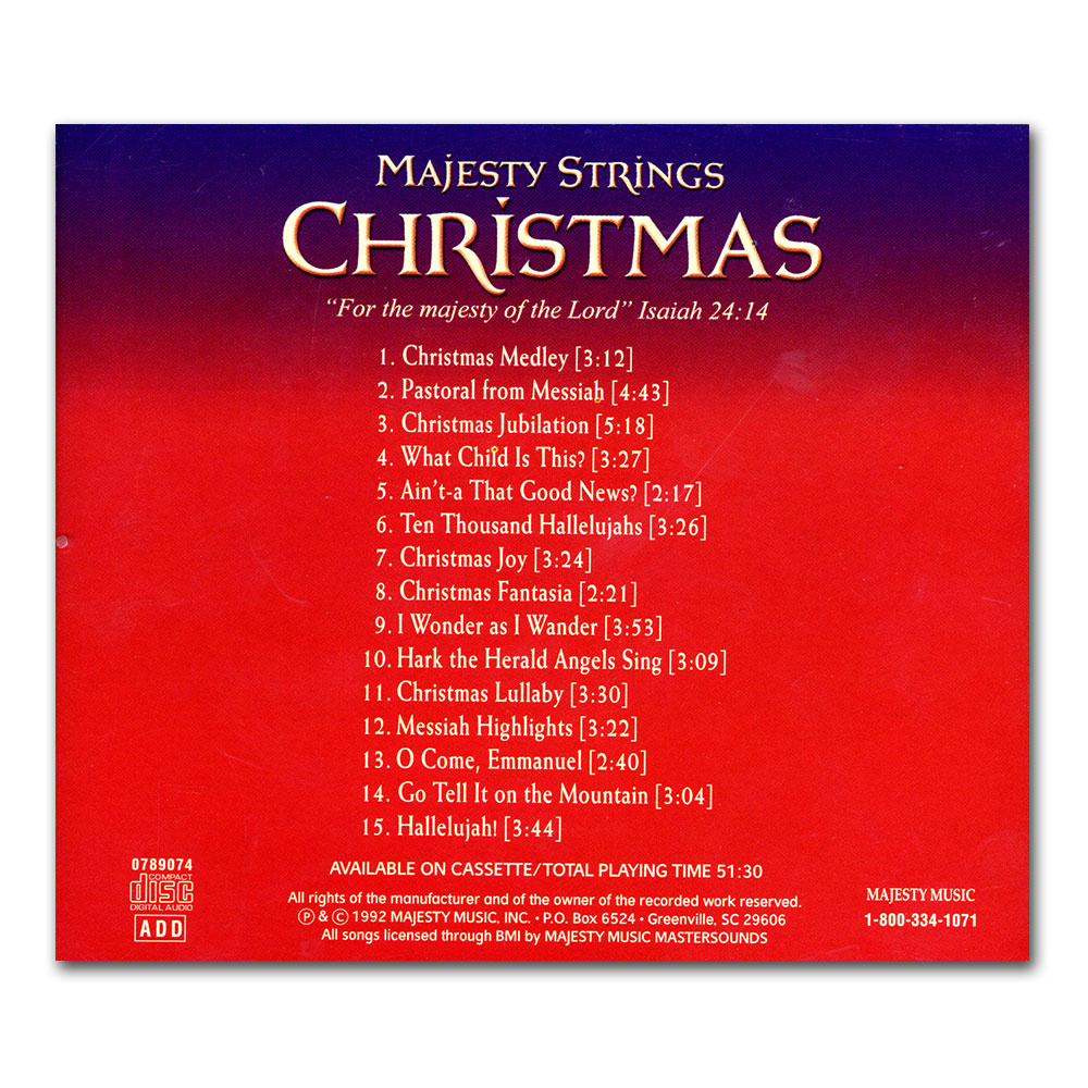 iblp online store majesty strings christmas cd - Christmas Cd