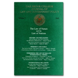 Journal of Law and Government Policy: The Law of Nature and the Law of Nations