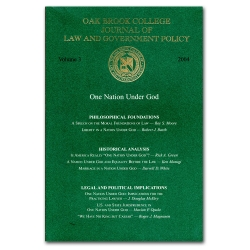 Journal of Law and Government Policy: One Nation Under God