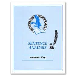 Sentence Analysis Answer Key