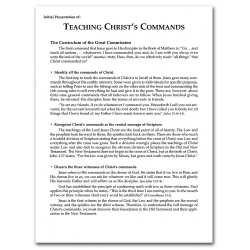Teaching the Commands of Christ