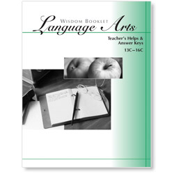 Wisdom Booklet Language Arts, Answer Keys, Level C 9-12