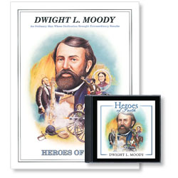 Heroes of Faith: Dwight L. Moody Audiobook (CD) & Booklet