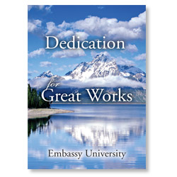 Dedication for Great Works