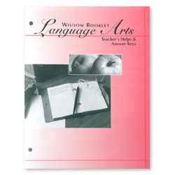Wisdom Booklet Language Arts, Answer Keys, Level A 13-16