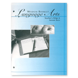 Wisdom Booklet Language Arts, Answer Keys, Level B 13-16